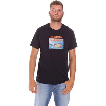 Oblačila Moški Majice s kratkimi rokavi Sundek M047TEJ7800 Črna