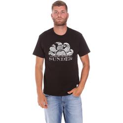 Oblačila Moški Majice s kratkimi rokavi Sundek M027TEJ78ZT Črna