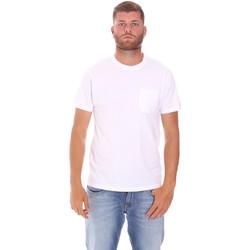 Oblačila Moški Majice s kratkimi rokavi Sundek M050TEJ9300 Biely