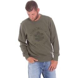 Oblačila Moški Puloverji Lumberjack CM60142 016EU Zelena