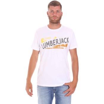 Oblačila Moški Majice s kratkimi rokavi Lumberjack CM60343 026EU Biely