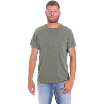 Oblačila Moški Majice s kratkimi rokavi Lumberjack CM60343 021EU Zelena