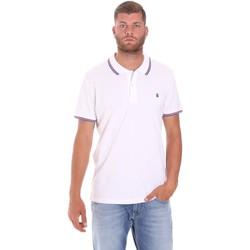 Oblačila Moški Polo majice kratki rokavi Lumberjack CM45940 016EU Biely