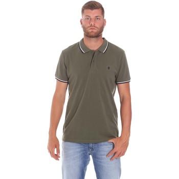 Oblačila Moški Polo majice kratki rokavi Lumberjack CM45940 016EU Zelena