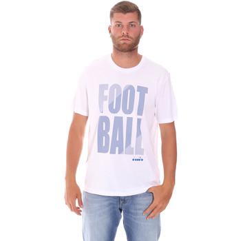 Oblačila Moški Majice s kratkimi rokavi Diadora 102175854 Biely