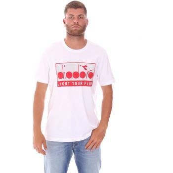 Oblačila Moški Majice s kratkimi rokavi Diadora 502175835 Biely