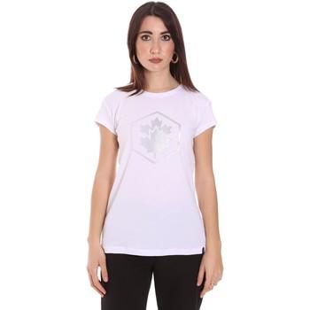 Oblačila Ženske Majice s kratkimi rokavi Lumberjack CW60343 015EU Biely