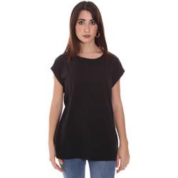 Oblačila Ženske Majice s kratkimi rokavi Lumberjack CW60343 011EU Črna