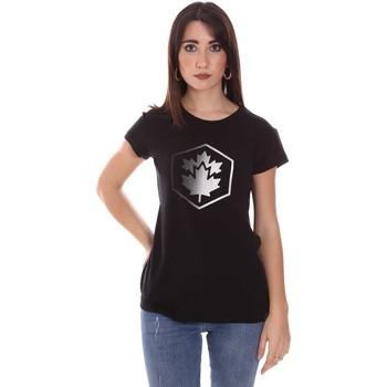 Oblačila Ženske Majice s kratkimi rokavi Lumberjack CW60343 015EU Črna