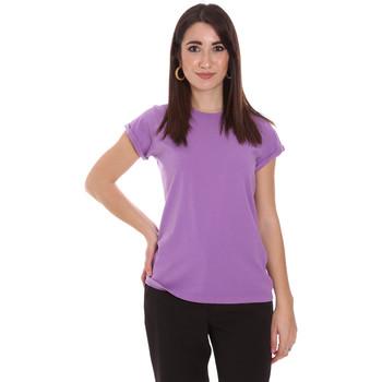 Oblačila Ženske Majice s kratkimi rokavi Dixie T924P092 Vijolična