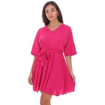 Oblačila Ženske Kratke obleke Fracomina FR21SD1024W42801 Roza