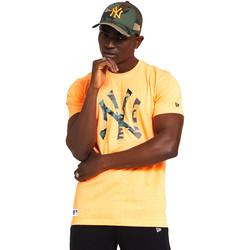 Oblačila Moški Majice s kratkimi rokavi New-Era 12369840 Oranžna