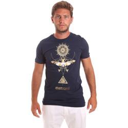 Oblačila Moški Majice s kratkimi rokavi Roberto Cavalli HST65B Modra