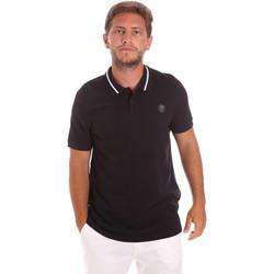 Oblačila Moški Polo majice kratki rokavi Roberto Cavalli FST693 Črna