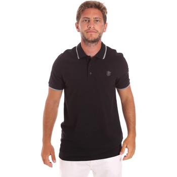 Oblačila Moški Polo majice kratki rokavi Roberto Cavalli FST697 Črna