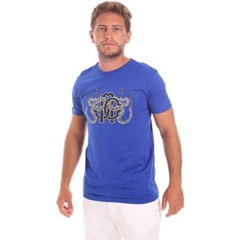 Oblačila Moški Majice s kratkimi rokavi Roberto Cavalli HST66B Modra