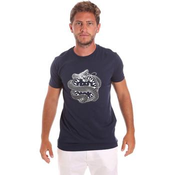 Oblačila Moški Majice s kratkimi rokavi Roberto Cavalli HST64B Modra