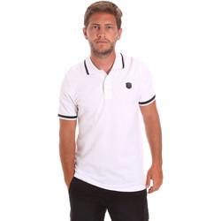 Oblačila Moški Polo majice kratki rokavi Roberto Cavalli FST697 Biely