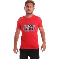 Oblačila Moški Majice s kratkimi rokavi Roberto Cavalli HST66B Rdeča