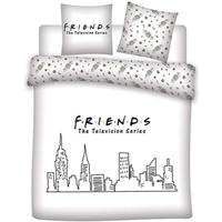 Dom Otroci Prevleke za prešito odejo Friends 63788 Blanco
