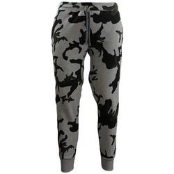 Oblačila Moški Pajkice Nike Camouflage Jogginghose Črna, Siva, Zelena
