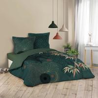 Dom Kompleti posteljnine Douceur d intérieur JAPONI Smaragdově zelený