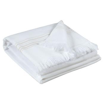 Dom Kopalniške brisače in rokavice za umivanje Vivaraise CANCUN Bela
