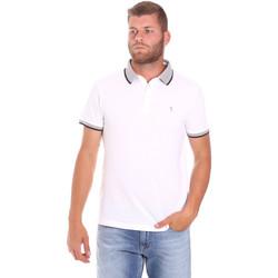 Oblačila Moški Polo majice kratki rokavi Trussardi 52T00491-1T003600 Biely