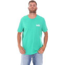 Oblačila Moški Majice s kratkimi rokavi Diadora 502175837 Zelena