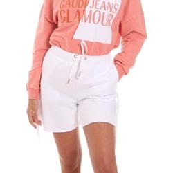 Oblačila Ženske Kratke hlače & Bermuda Fracomina FT21SP1002F400N5 Biely