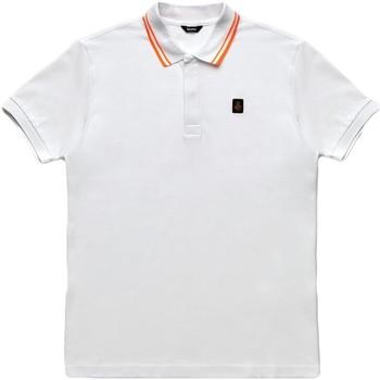 Oblačila Moški Polo majice kratki rokavi Refrigiwear RM0T24000PX9032 Biely