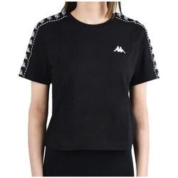 Oblačila Ženske Majice s kratkimi rokavi Kappa Inula Tshirt Črna