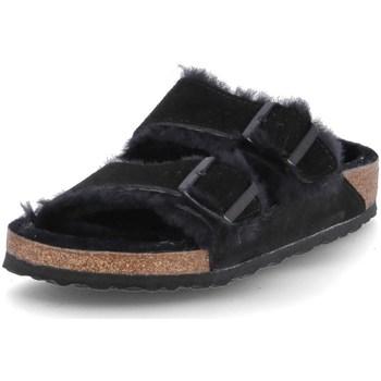 Čevlji  Moški Natikači Birkenstock Arizona Fur Črna