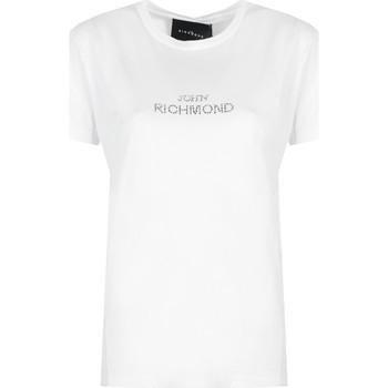 Oblačila Ženske Majice s kratkimi rokavi John Richmond  Bela