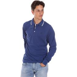 Oblačila Moški Polo majice dolgi rokavi Key Up 2L711 0001 Modra