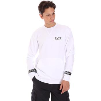Oblačila Moški Puloverji Ea7 Emporio Armani 3KPM22 PJ05Z Biely