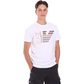 Oblačila Moški Majice s kratkimi rokavi Ea7 Emporio Armani 3KPT22 PJ6EZ Biely