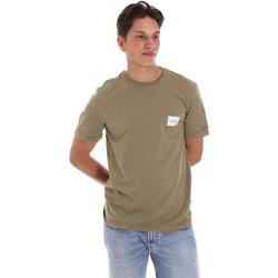 Oblačila Moški Majice s kratkimi rokavi Calvin Klein Jeans K10K107281 Zelena