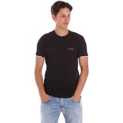 Oblačila Moški Majice s kratkimi rokavi Key Up 2S420 0001 Črna