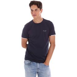 Oblačila Moški Majice s kratkimi rokavi Key Up 2S420 0001 Modra