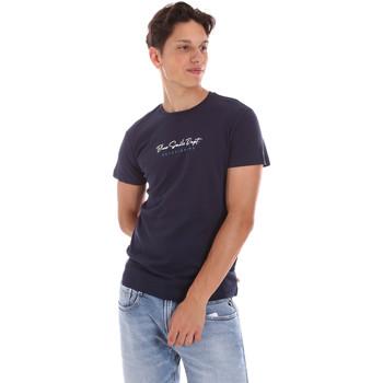 Oblačila Moški Majice s kratkimi rokavi Key Up 2S438 0001 Modra