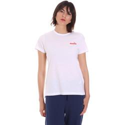 Oblačila Ženske Majice s kratkimi rokavi Diadora 102175882 Biely