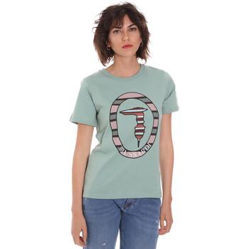 Oblačila Ženske Majice s kratkimi rokavi Trussardi 56T00371-1T005228 Zelena