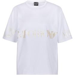 Oblačila Ženske Majice s kratkimi rokavi Ea7 Emporio Armani 3KTT18 TJ29Z Biely