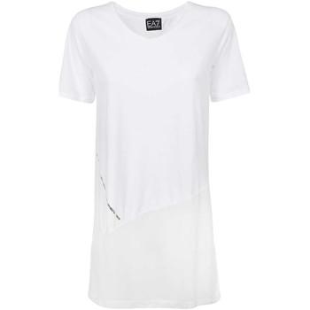 Oblačila Ženske Majice s kratkimi rokavi Ea7 Emporio Armani 3KTT36 TJ4PZ Biely