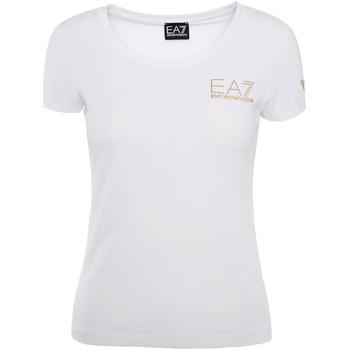 Oblačila Ženske Majice s kratkimi rokavi Ea7 Emporio Armani 8NTT65 TJ28Z Biely