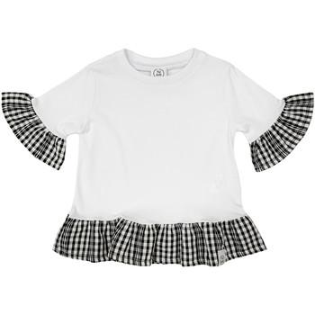 Oblačila Deklice Majice s kratkimi rokavi Naturino 6001011 01 Biely