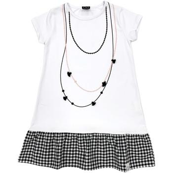Oblačila Deklice Kratke obleke Naturino 6000724 01 Biely
