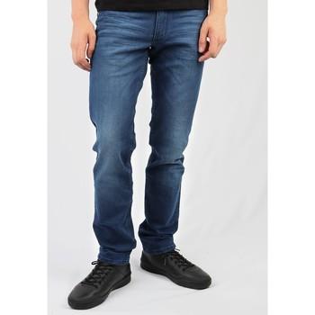 Oblačila Moški Jeans straight Wrangler Greensboro W15QEH76 blue