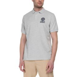 Oblačila Moški Polo majice kratki rokavi Franklin & Marshall Polo Franklin & Marshall Classique gris chiné